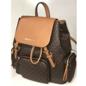MICHAEL KORS ABBEY LARGE CARGO BACKPACK BROWN MK